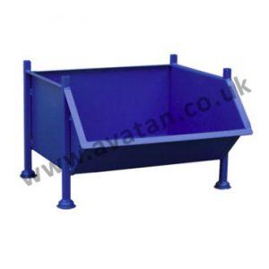 Steel stillage chute front pallet