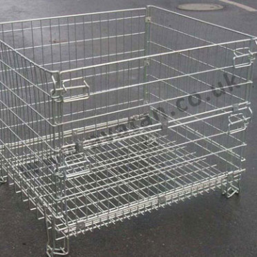 Used Hypacage CubiCage folding stackable cage pallet