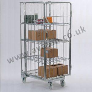 AF4 Nestable roll pallet A frame Cage with shelves