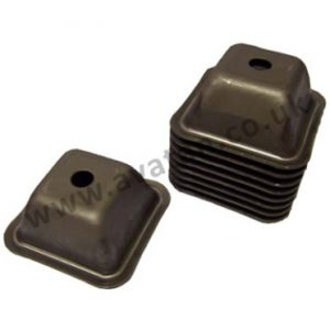F1 steel standard pallet foot feet 125mm for 50mm section