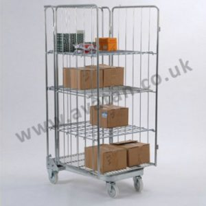 Roll container Used Nestable A frame open front