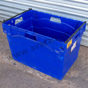 Used Plastic container stackable nestable bail arm