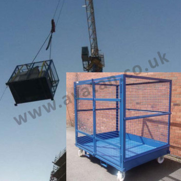 Crane Lift Stillage Steel Mesh Cage Pallet Secure