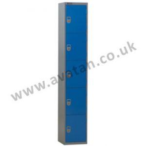 Steel compartment locker five door lockable
