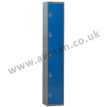 Steel compartment locker five door lockable
