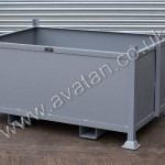 Steel Box Pallet Stillage With Fork Guides Reinforced Sides