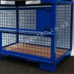 Euro 90 Cage Pallet Gitterbox timber deck