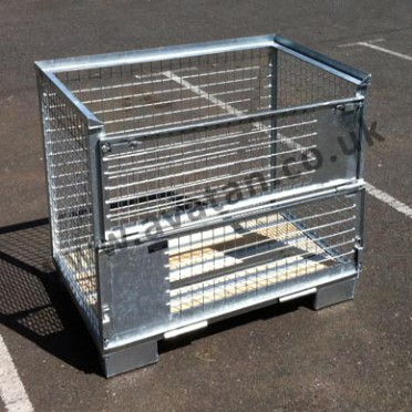 Galvanised Cage Pallet Gitterbox Style Stackable Stillage