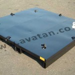 Specially Designed Flat Steel Pallet With Lashing Points Heavy Duty Full Depth Fork Guides