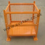 HD Cage Pallet secure stillage with lid