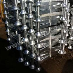 Galvanised Post Rack Spiralled for Transport