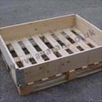 Timber pallet collar hinged corners wood