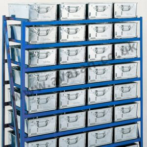Tote Pan Rack Range Steel Storage Rack for Work Containers