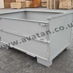 Euro 75 Steel Box Pallet Stillage Half Gate
