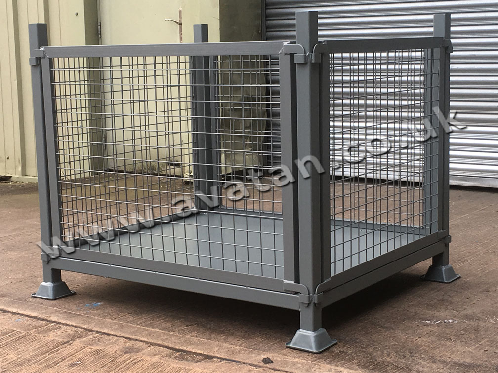 Heavy Duty MOD Style Stackable Cage Pallet Removable Gates