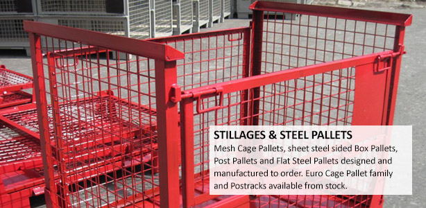 Mesh Cage Pallets & Steel Box Pallets