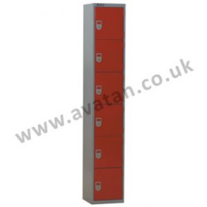 Steel compartment locker six door secure