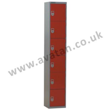 Steel compartment locker six door secure