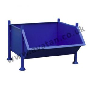 Steel stillage chute front pallet