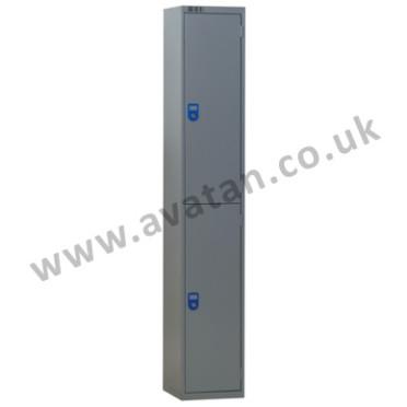 Steel compartment locker two door lockable