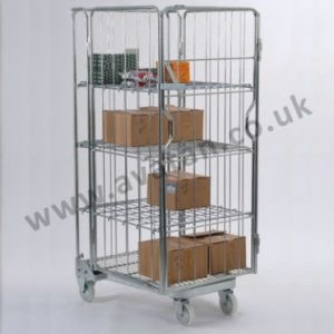 AF4 Nestable roll pallet A frame Cage with shelves