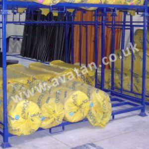 Steel Post pallet insulation demountable