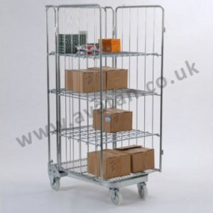 Roll container Nestable A frame open front