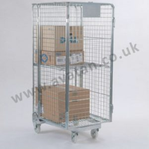 Used Roll Container Secure Roll Pallet Mesh Sides