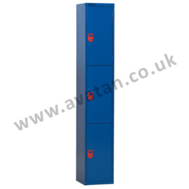 Secure compartment locker lockable three door