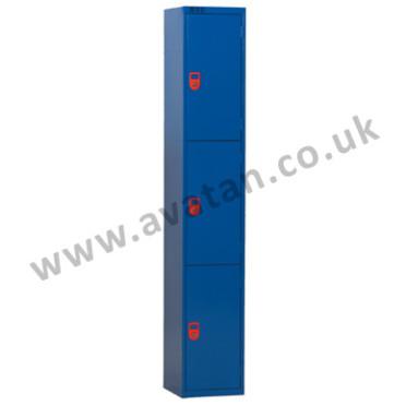 Secure compartment locker lockable three door