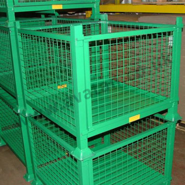 Drop Side Cage Pallet Stillage With Removable Gate Avatan