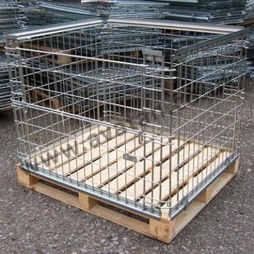 Used stackable retention unit pallet converter