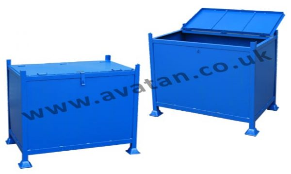 Secure Box Pallet Hinging Lid