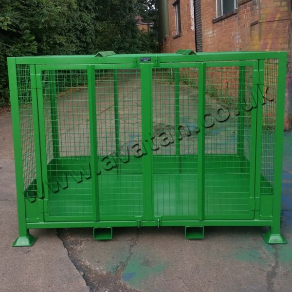 Cargo Stillage Large Secure Cage Pallet gated front