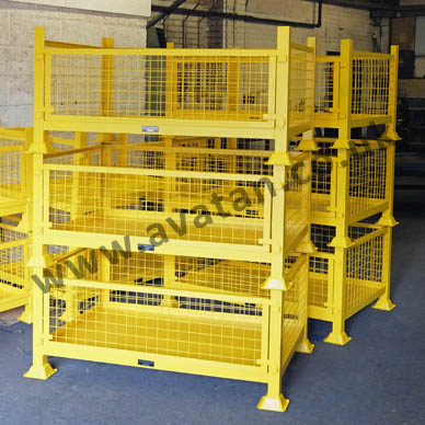 DS Stackable Cage Pallet with removable front gate