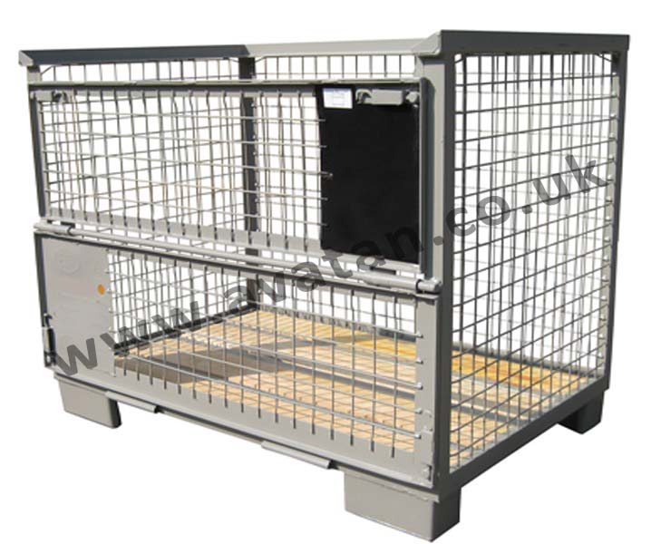 Euro Gitterbox Pallet Pool Steel Mesh Cage Pallet