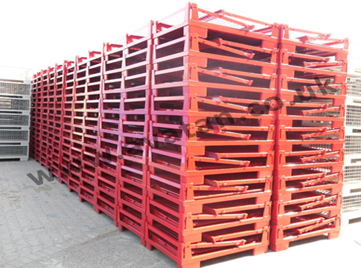 Euro 91 Gitterbox Cage Pallet folded