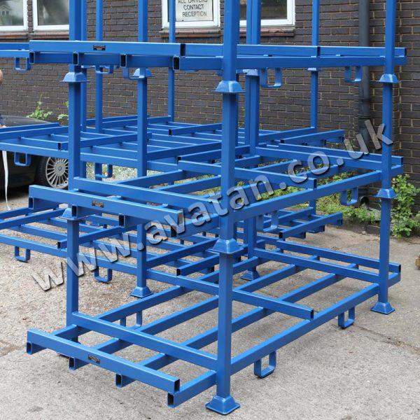 Steel Post Pallet Rigid Raised Storage Deck Fork Guides