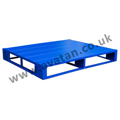 Steel pallet flat close boarded