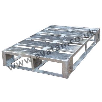 Flat steel pallet galvanised metal
