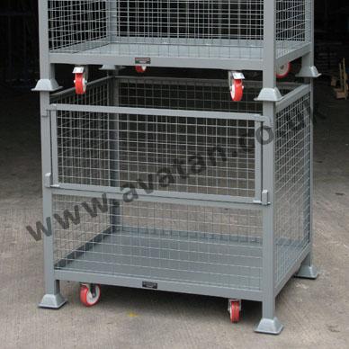 HD Cage Pallet Half Drop Gate Mobile