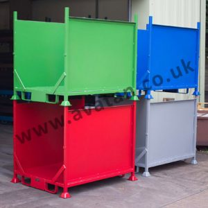 Steel Stillages Designed to Order Sheet or Mesh Sides
