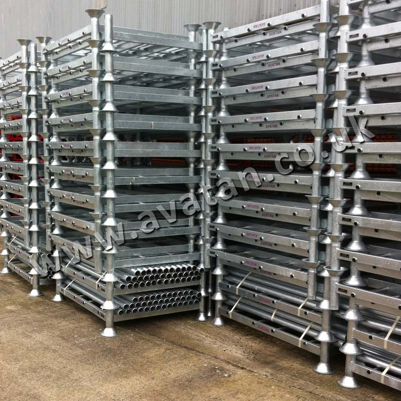 Demountable Postrack Stacked Post Pallet Ready For Transport