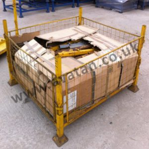 Used cage pallet removable mesh gates