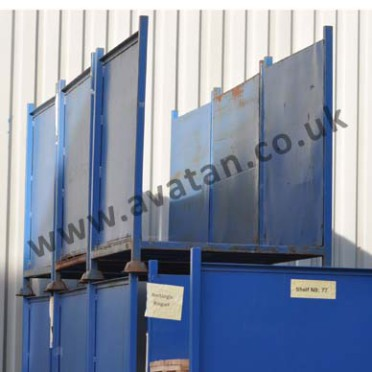 Steel stillage open front back box pallet