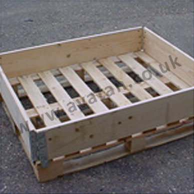 Timber pallet collar hinged corners wood