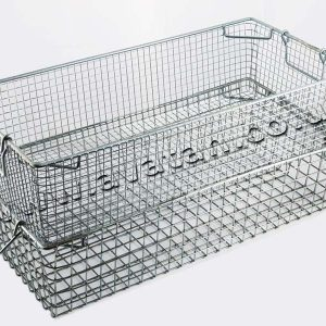 Stackable Mesh Steel Tote Basket