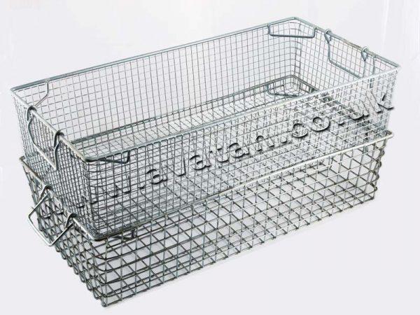 Stackable Mesh Steel Tote Basket