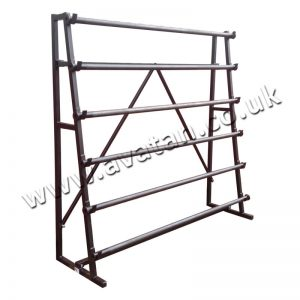 Vinyl Rack 6 Roll Single Sided Static Or Mobile On Castors