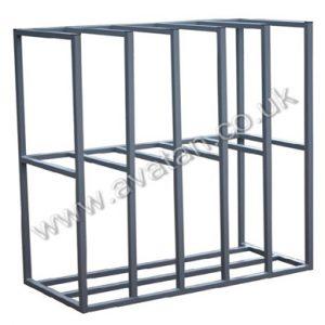 Vertical steel rack sheet storage